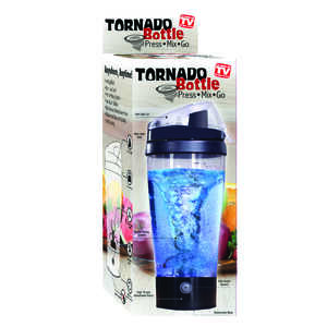 Tornado Bottle  As Seen On TV  Black/Clear  20 oz. 1 speed Hand  Tumbler Mixer