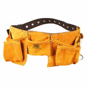 CLC  Heavy Duty 12 pocket Leather/Suede  Work Apron  Brown  1 pk