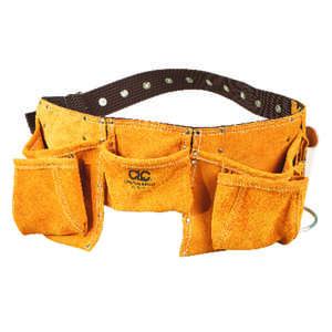 CLC Work Gear  Heavy Duty 12  Leather/Suede  Work Apron  2 in. W Brown  1 pk