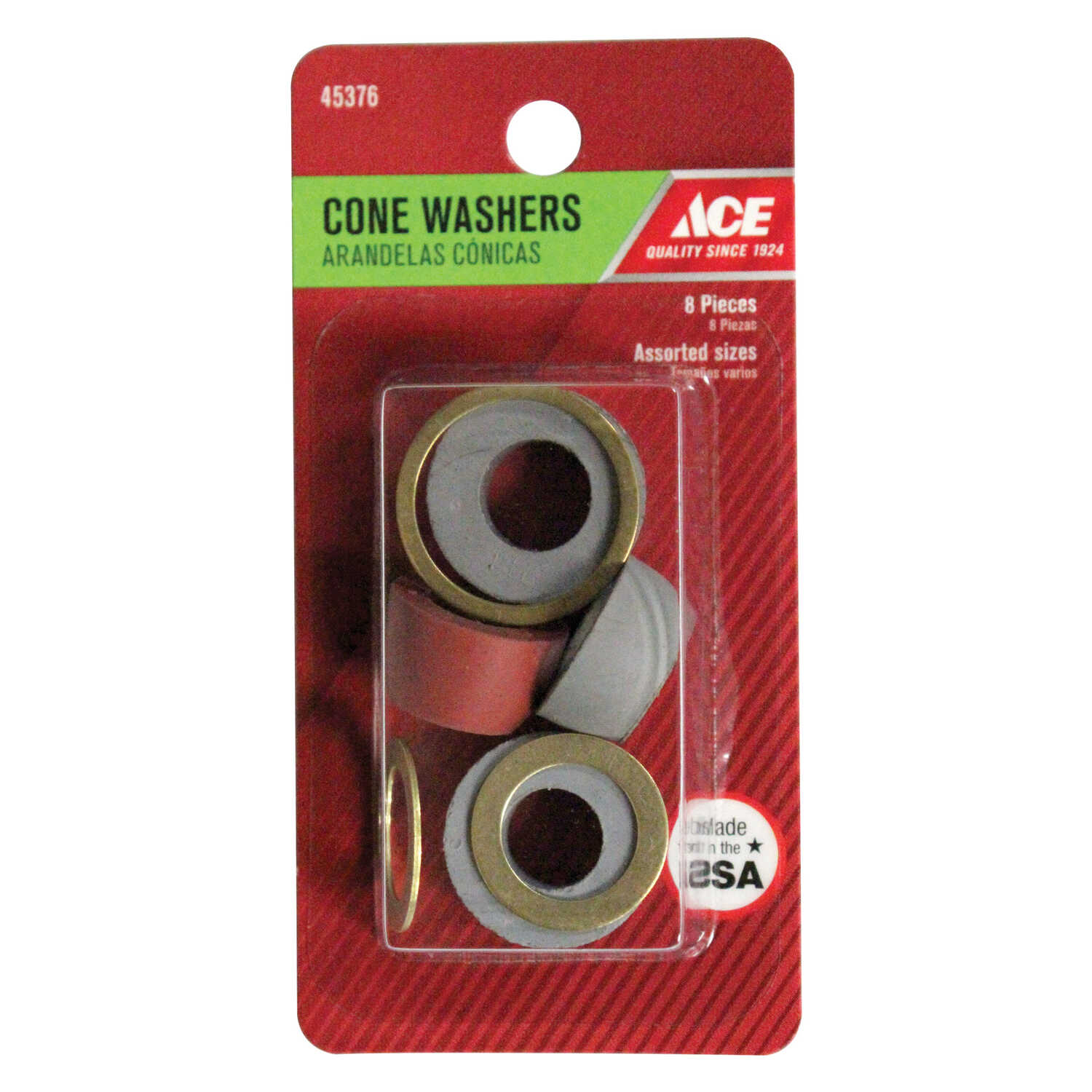 Ace  .5 in. Dia. Rubber  Cone Washer Assortment with Rings  8