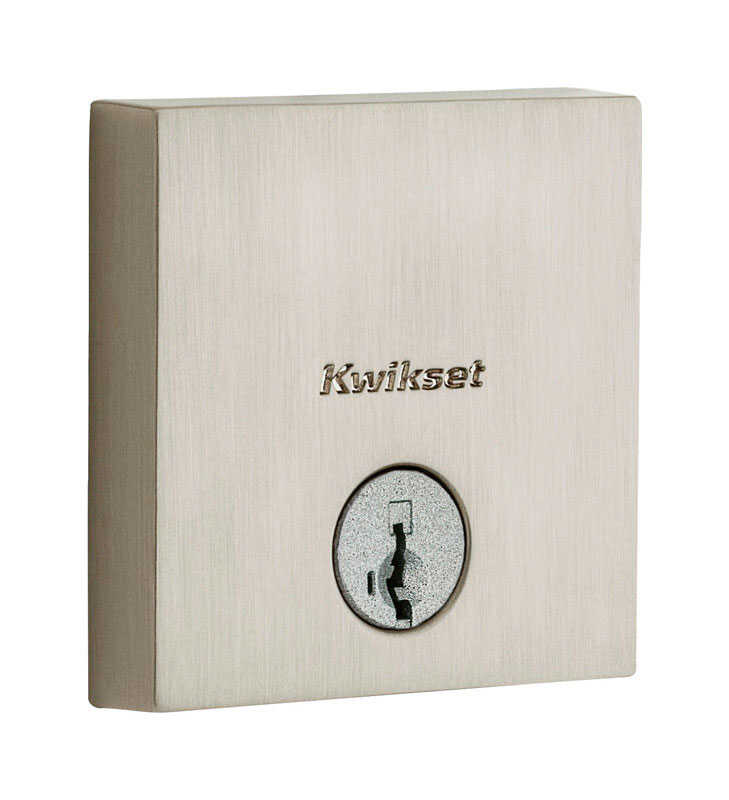 Kwikset  Satin Nickel  Steel  Deadbolt