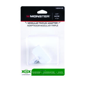 Monster Cable  Just Hook It Up  Triplex Adapter
