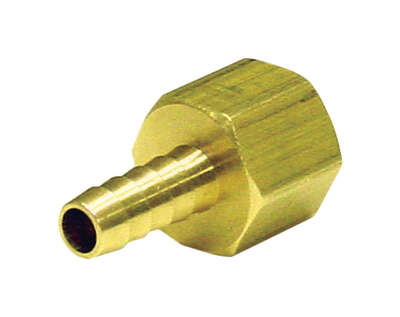 JMF  Brass  1/4 in. Dia. x 1/2 in. Dia. Adapter  Yellow  1 pk