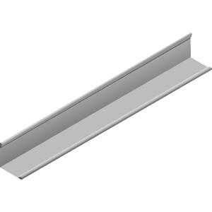 USG Donn Brand  SM7  0.875 in. L x 0.875 in. W Galvanized Steel  Wall Mounting  40 pk