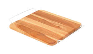 Snow River  11 in. W x 12 in. L Natural  Wood  Over-The-Sink Cutting Board