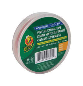 Duck Brand  3/4 in. W x 66 ft. L Orange  Vinyl  Electrical Tape