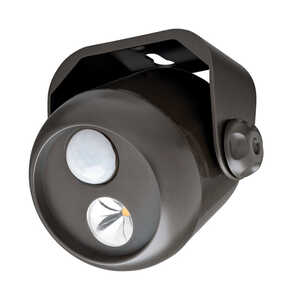 Mr. Beams  Battery Powered  Black  Plastic  Motion-Sensing  Spotlight