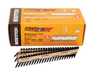 Bostitch  StrapShot  1-1/2 in. 11 Ga. Straight Strip  Metal Connector Nails  35 deg. Smooth Shank  1