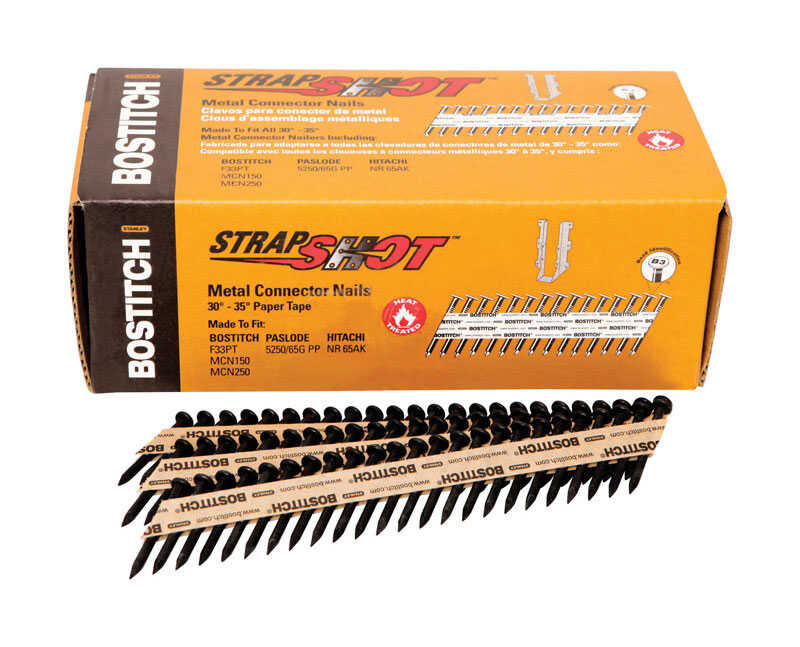 Stanley Bostitch  StrapShot  35  11 Ga. Smooth Shank  Straight Strip  Metal Connector Nails  1-1/2 i