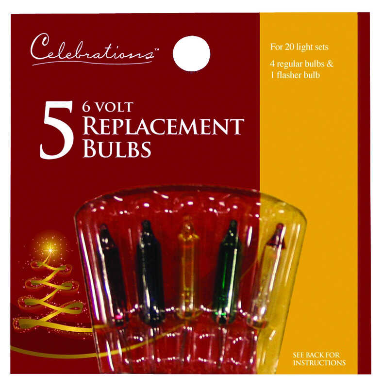 Celebrations  Incandescent  Mini  Light Set  Multicolored  5 lights