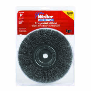 Weiler  Vortec Pro  8 in. Crimped  Wire Wheel Brush  Carbon Steel  6000 rpm 1 pc.
