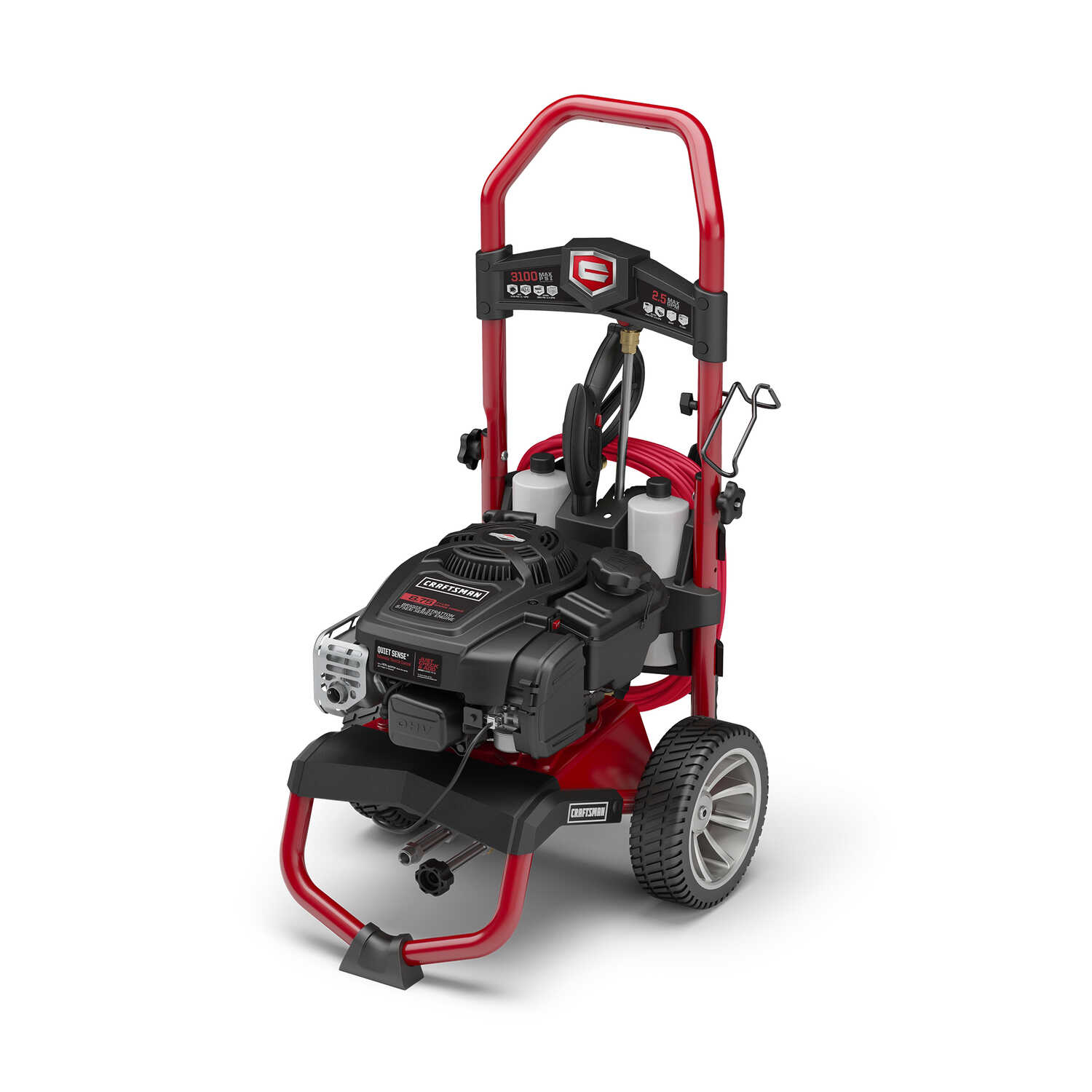 Craftsman  Briggs & Stratton  3100 psi Gasoline  2.7 gpm Pressure Washer