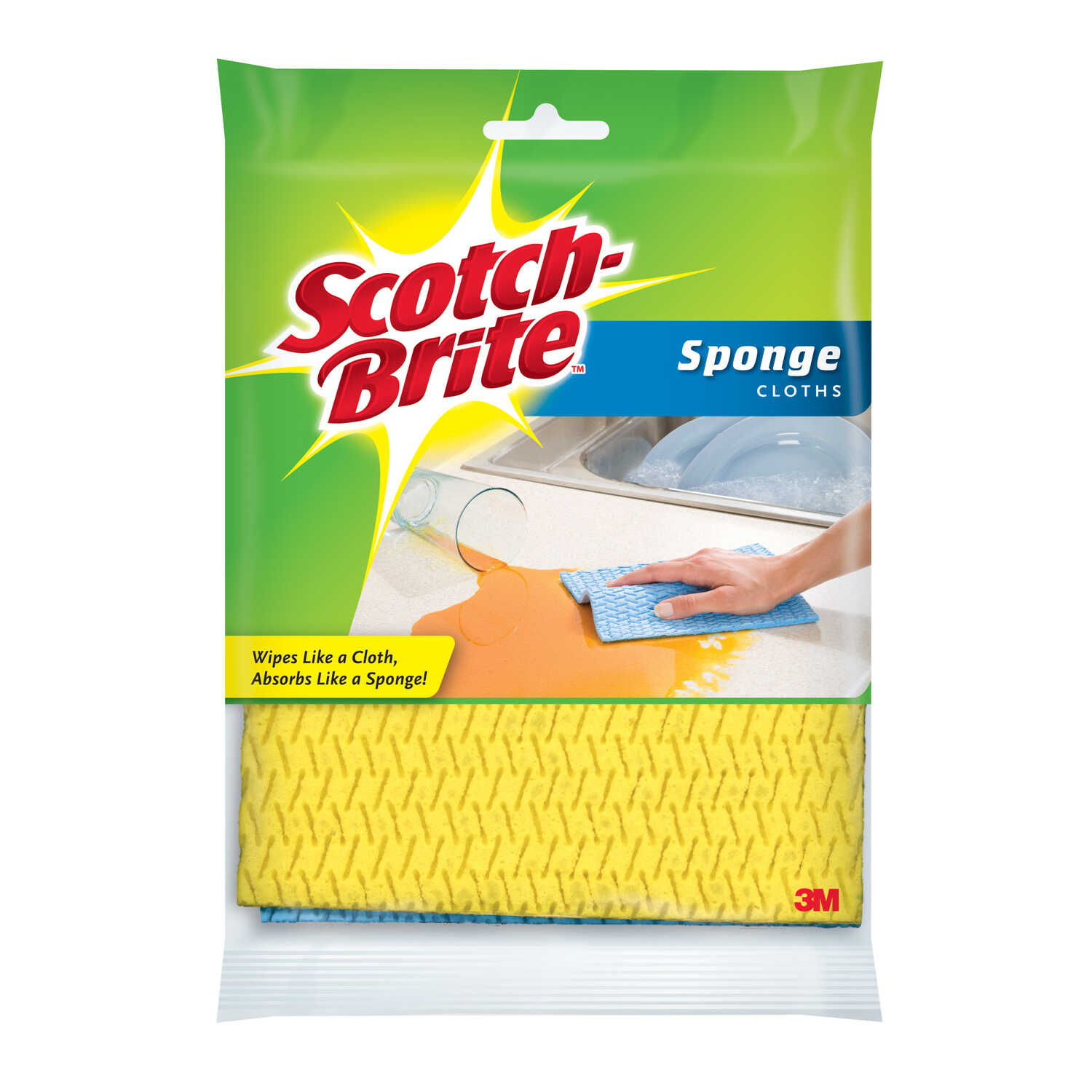 Scotch-Brite  Delicate, Light Duty  Scrubbing Cloths  6.8 in. L 2 pk