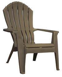 Adams  RealComfort  1 pc. Earth Brown  Polypropylene Frame Adirondack Chair