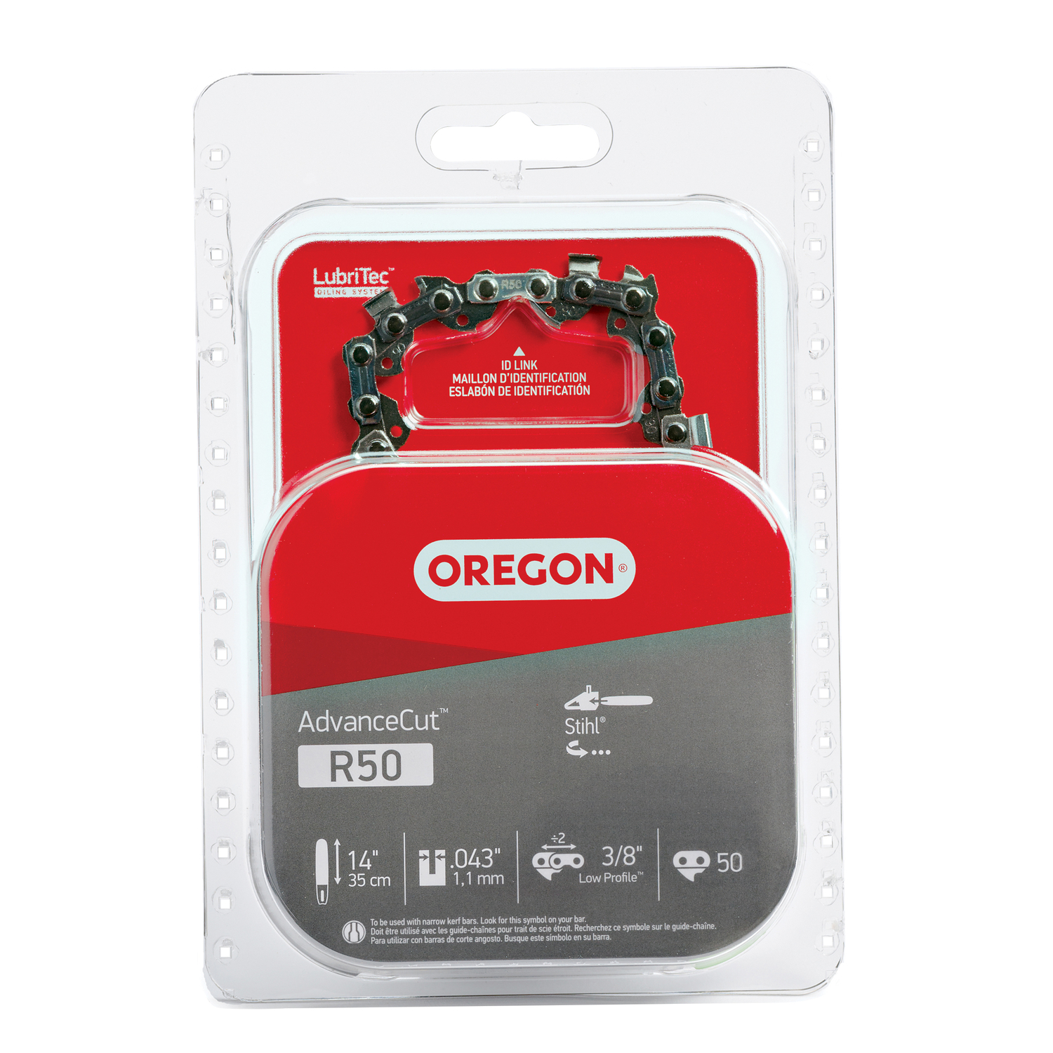 Oregon  14 in. L 50 links Chainsaw Chain