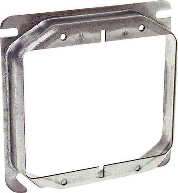 Raco  Square  Steel  2 gang Box Cover  For Two Wiring Devices