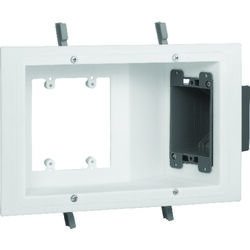 Carlon 6.75 in. Rectangle Electrical Box White Plastic 3 gang