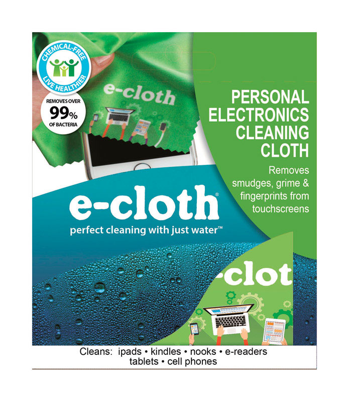 E-Cloth  Electronics  Polyamide/Polyester  Cleaning Cloth  8 in. W x 12 in. L 1 pk