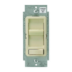 Leviton SureSlide Light Almond 600 watt Preset Slide Dimmer Switch 1 pk