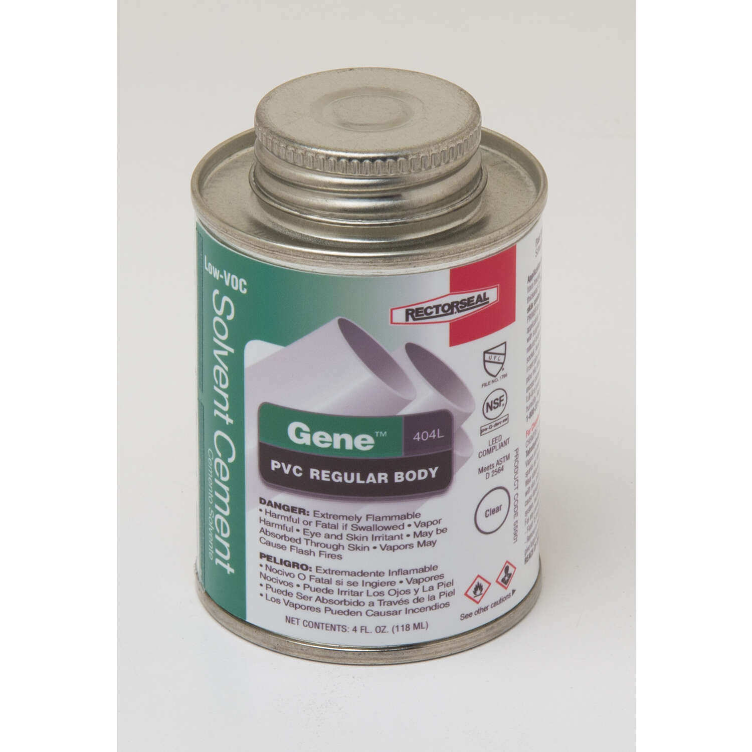 Rectorseal  Gene  Clear  Solvent Cement  For PVC 4 oz.