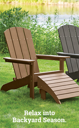 patio furniture image, relax into backyard season.