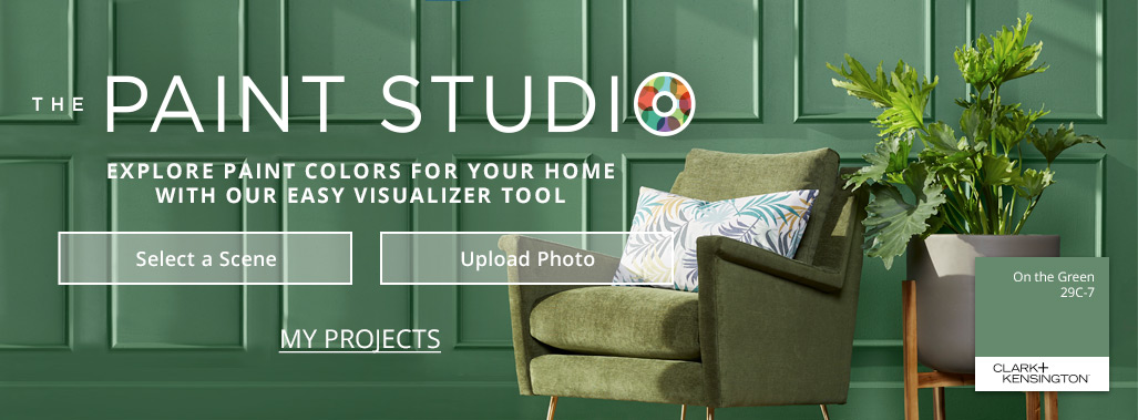 The Paint Studio - Explore paint colors for your home with our easy visualizer tool - Select a scene - Upload Photo - My Projects
