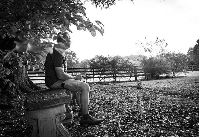 Joe on bench