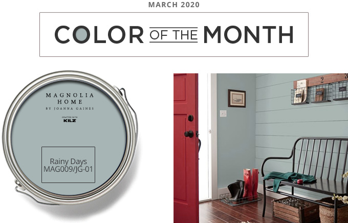 Color of the Month - March 2020 - Rainy Days