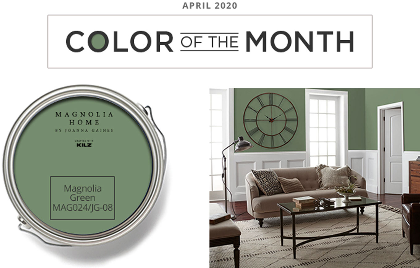 Color of the Month - april 2020 - Magnolia Green