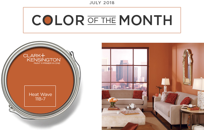 Color of the Month - July 2018 - Heat Wave