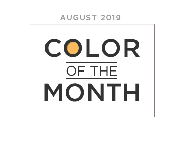 Color of the Month august 2019