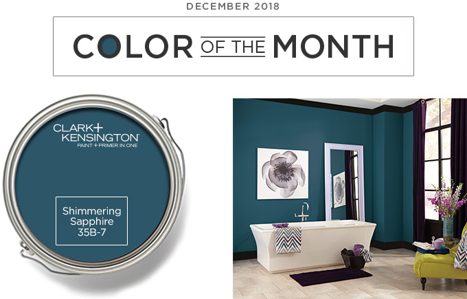 Color of the Month - December 2018 - Shimmering Sapphire