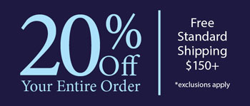 Save 20% on Your Entire Order