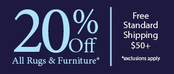 Save 20% Off Rugs & Furniture