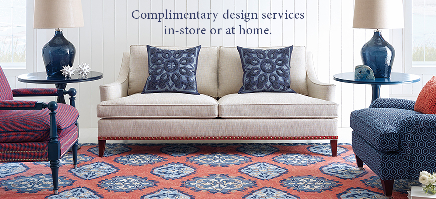 Complimentary design services in store or at home