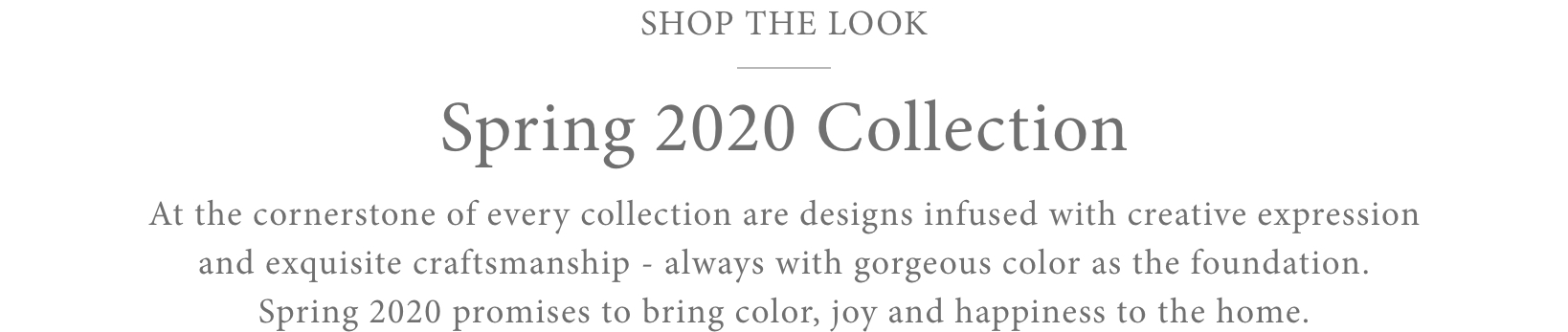 Shop the Look - Spring 2020