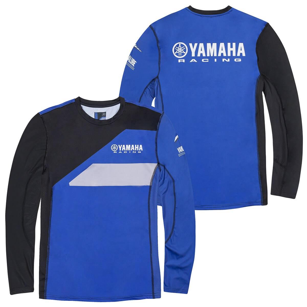 Genuine Yamaha 2020 Paddock Blue Black /& Blue Men/'s Pique Polo Shirt