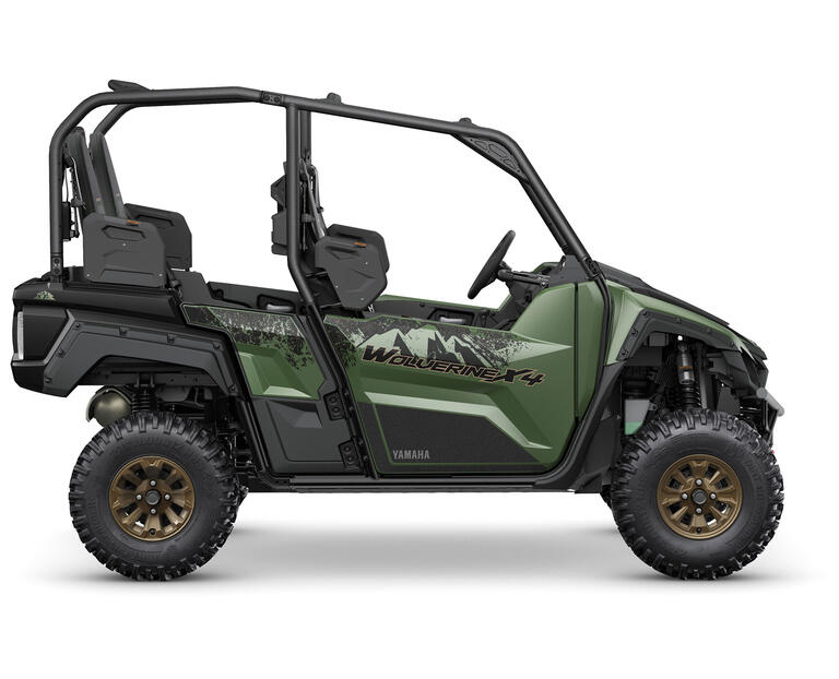 2021 Wolverine X4 850 EPS SE, color Covert Green