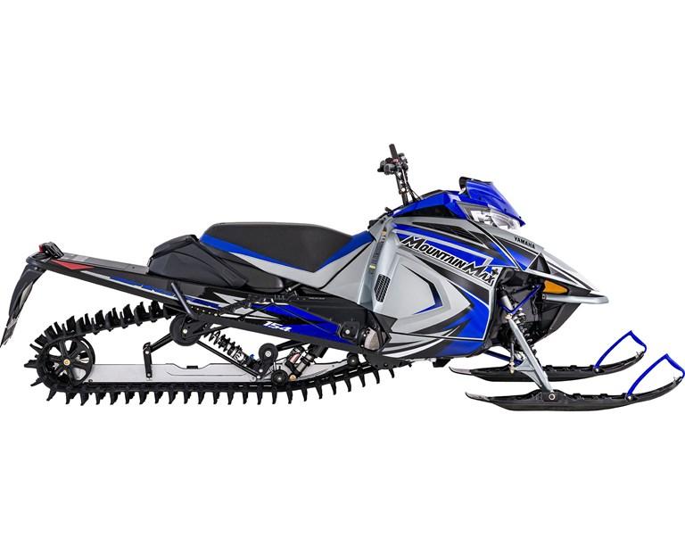 2022 Mountain Max LE 154, color Frost Silver/Team Yamaha Blue