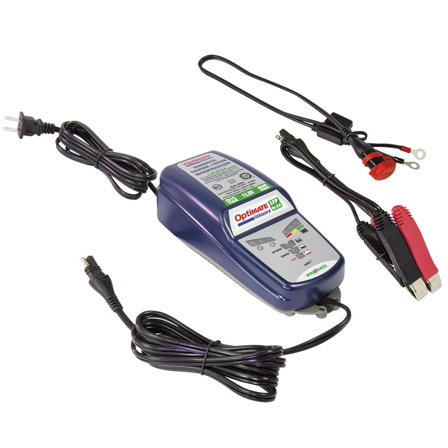 OptiMate TM-291 Lithium 4s 5A 10-step 12.8V 5A Sealed Battery Saving Charger /& Maintainer