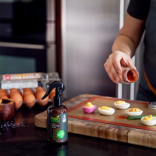 Fresh Wave Odor Removing Spray, 8 oz. Sitting on Kitchen Counter